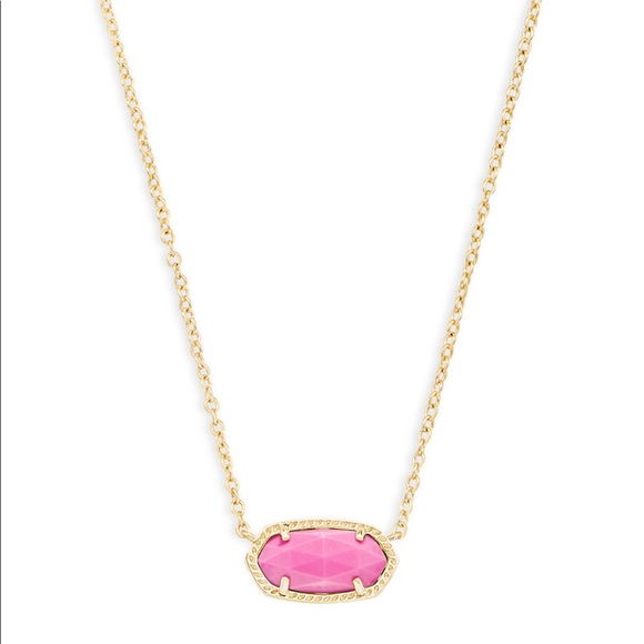 Kendra scott jewelry elisa gold pendant necklace in magenta poshmark elisa gold pendant necklace in magenta mozeypictures Images